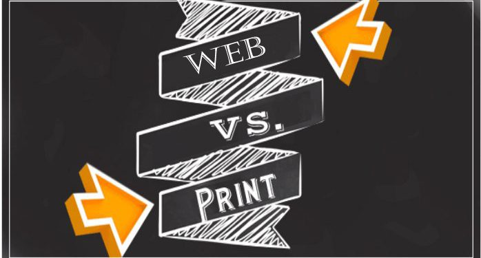 Difference between Web Advertising and Print Advertising
